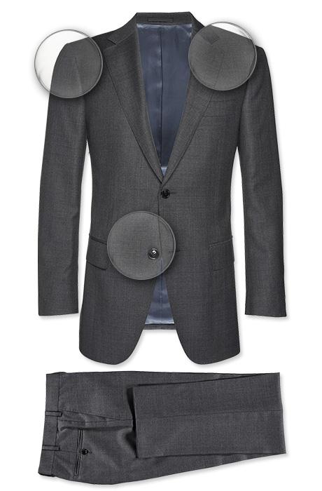 promo code 4ab80 12103 Very Goods   Suit Grey Faux Uni Napoli P2505i   Suitsupply ...