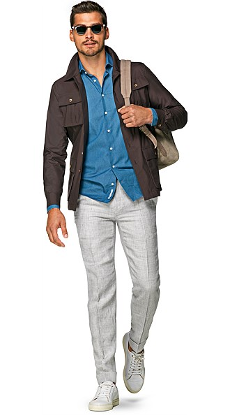Brown Field Jacket Jort