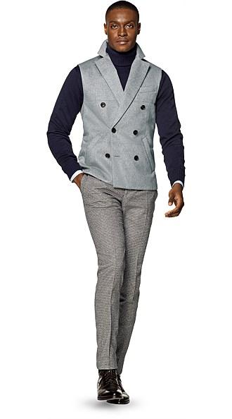 Light Grey Quilted Vest