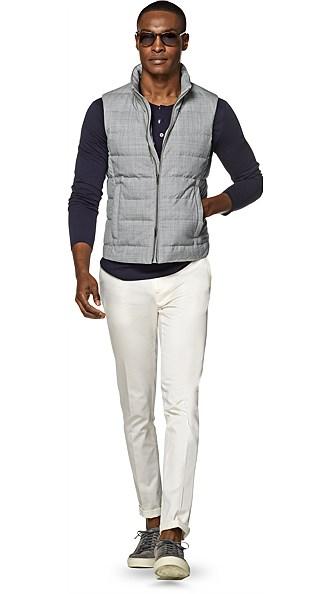 Light Grey Padded Vest