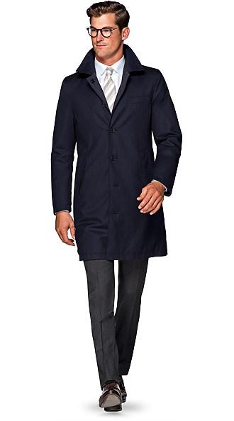 Navy Travel Coat