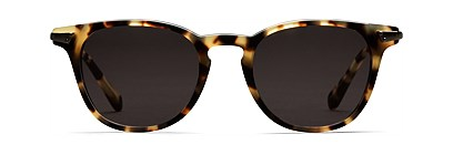 Light Brown Round Sunglasses