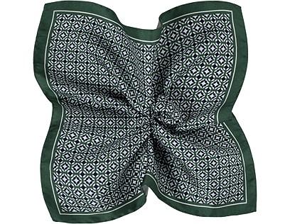 Pocket Square Green