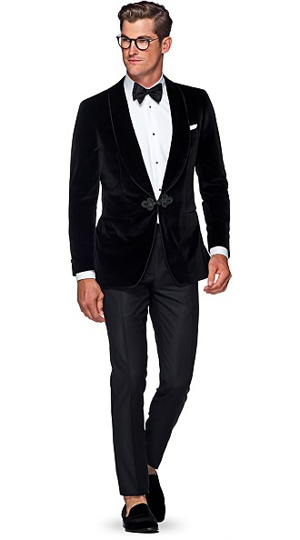 Jort Black Plain Dinner Jacket