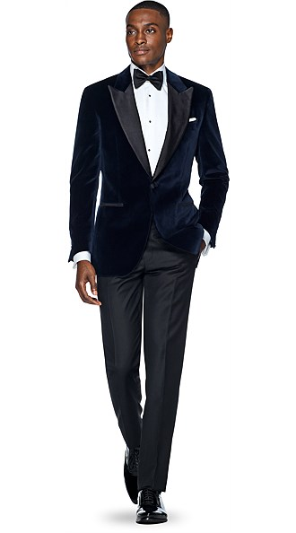 Jort Blue Plain Dinner Jacket