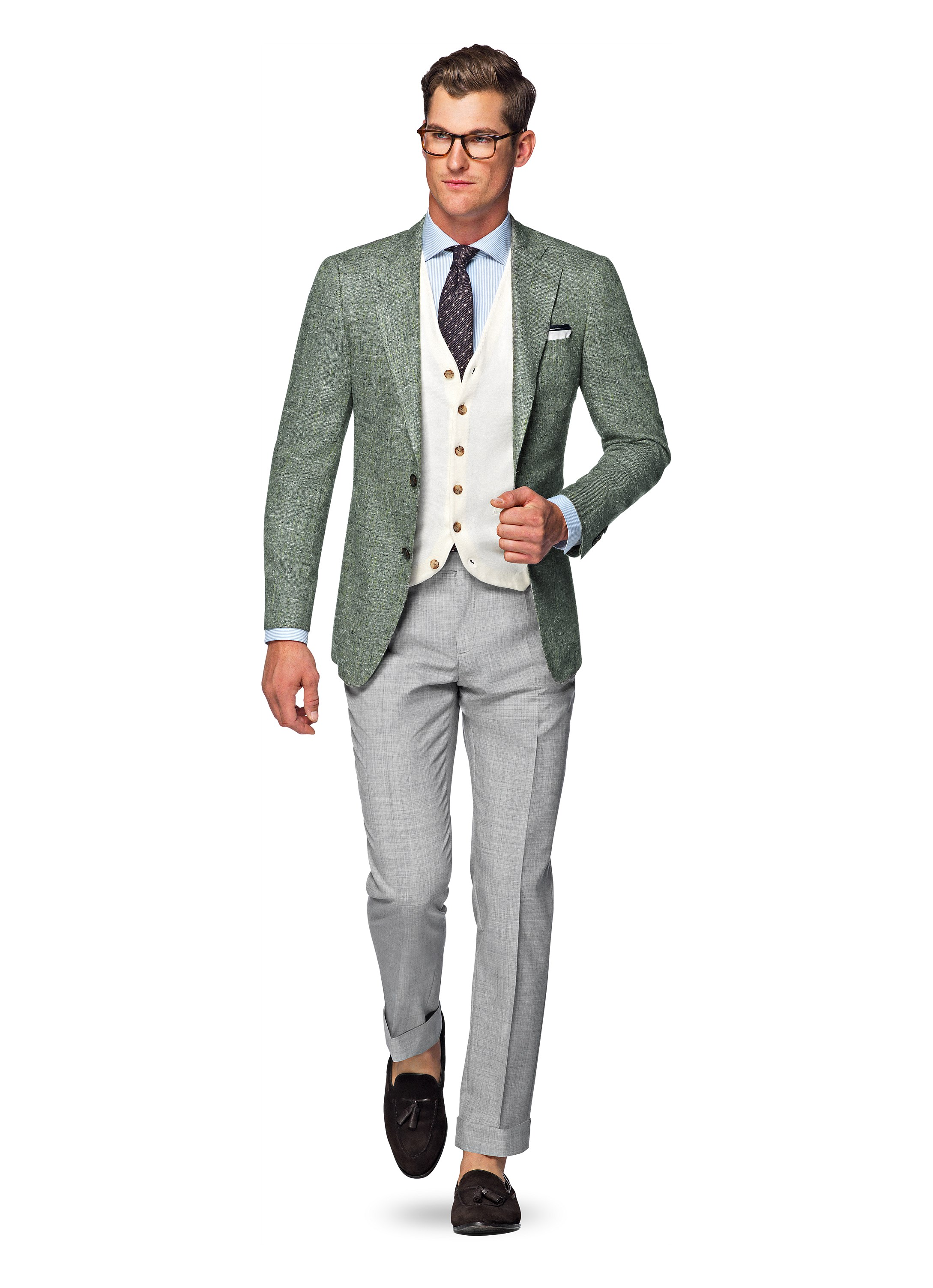 Jacket Green Plain Hudson C944