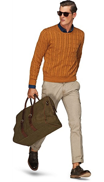 Ochre_Cable_Crewneck_SW299