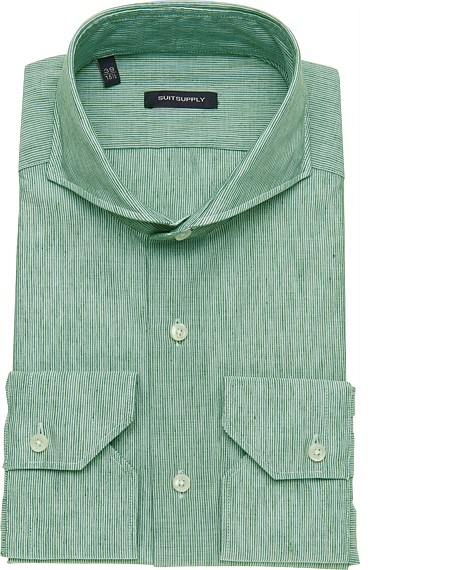 GREEN_WASHED_SHIRT_Single_Cuff_H3912