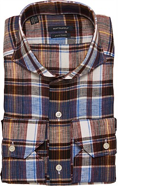MULTI_CHECK_SHIRT_Single_Cuff_H3879