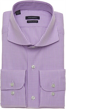 PURPLE_CHECK_SHIRT_Single_Cuff_H3865