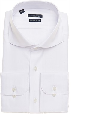 WHITE_HERRINGBONE_SHIRT_Single_Cuff_H3819