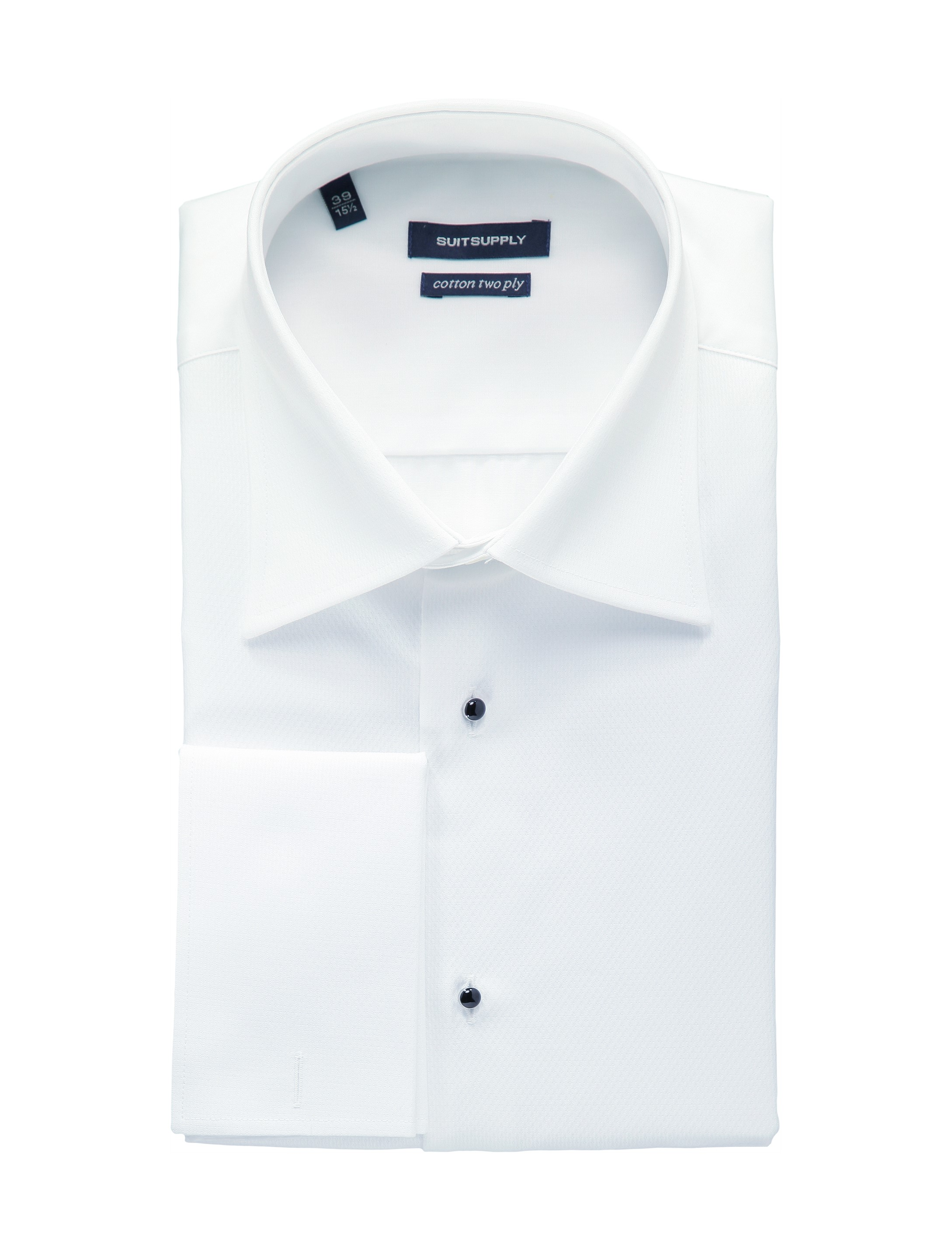 White tuxedo shirt double cuff h698 suitsupply online store for White shirt for tuxedo