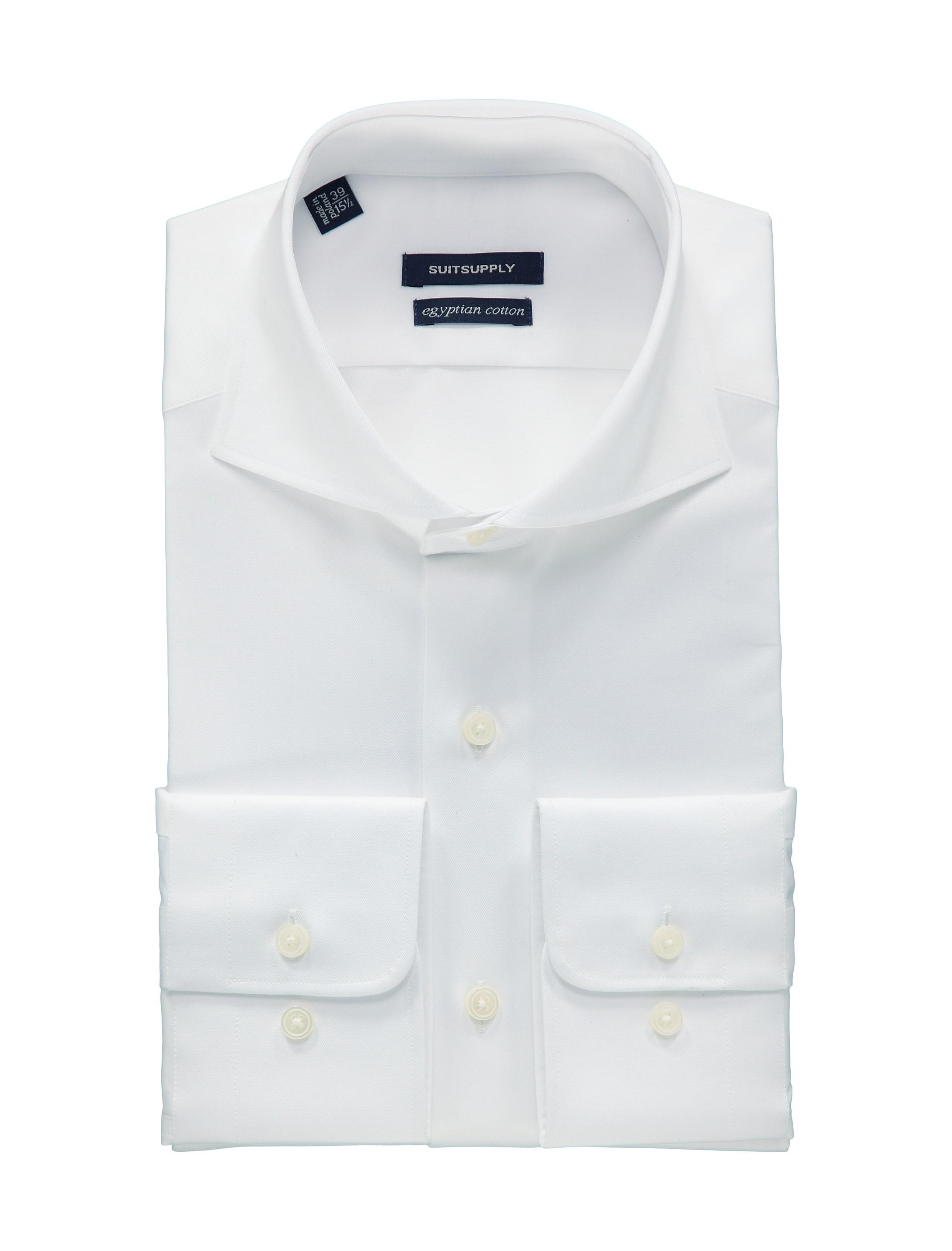 White shirt single cuff h4490u suitsupply online store for Single cuff dress shirt