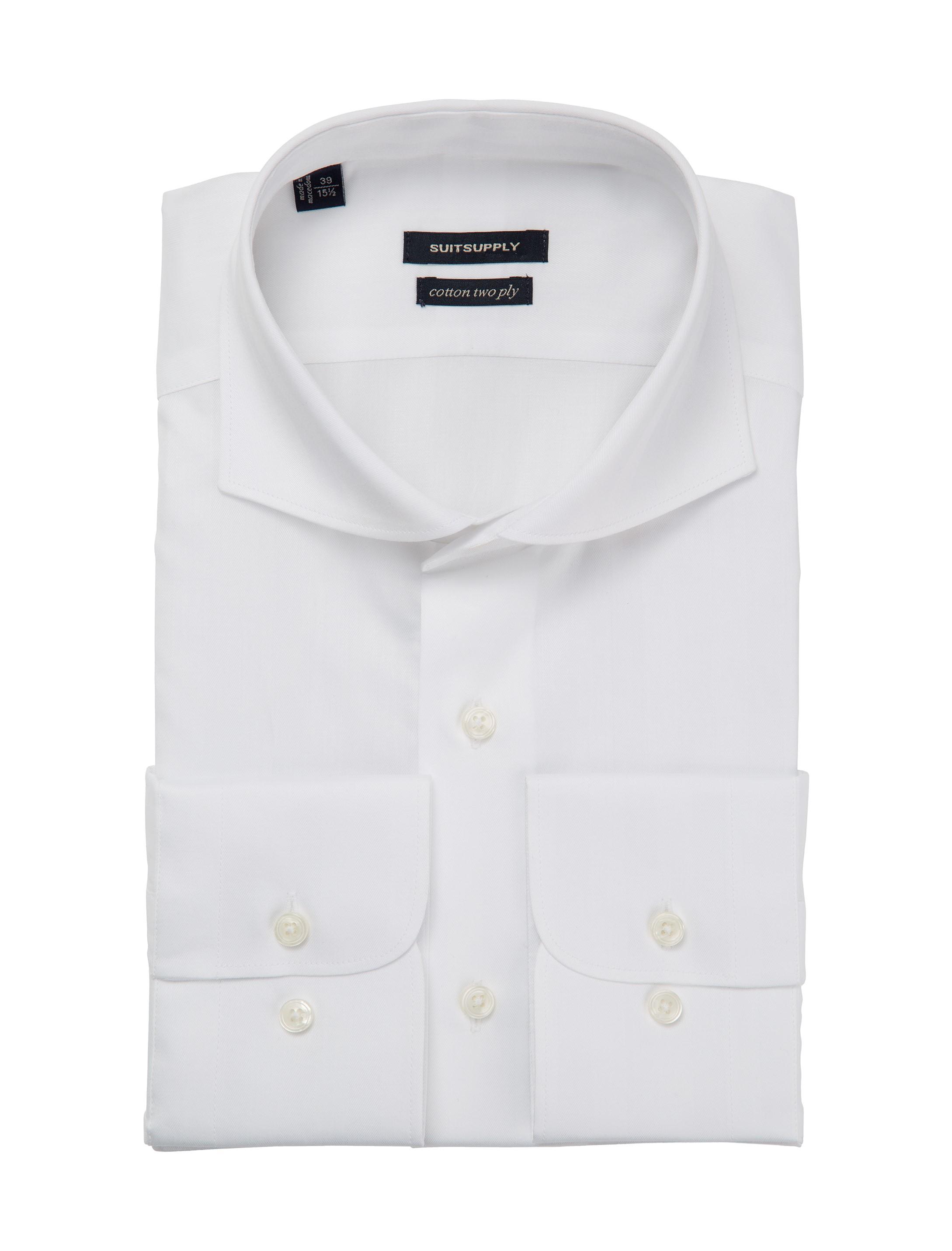 White shirt single cuff h4517u suitsupply online store for Single cuff dress shirt