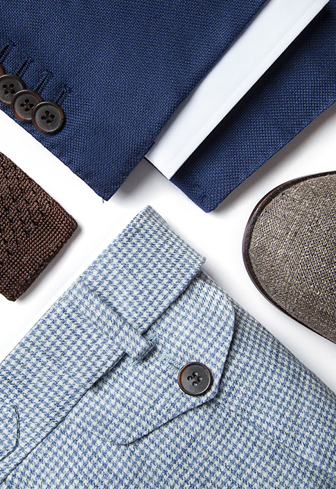 Spring Summer 2015 Blue And Brown Combination