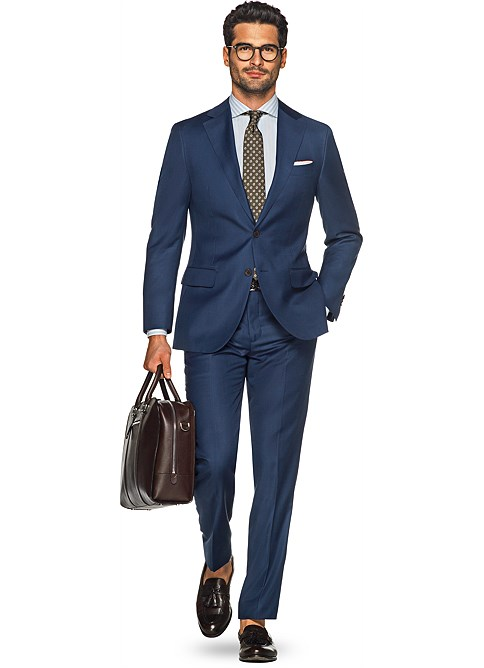 Suit Blue Plain Napoli P4291ni | Suitsupply Online Store