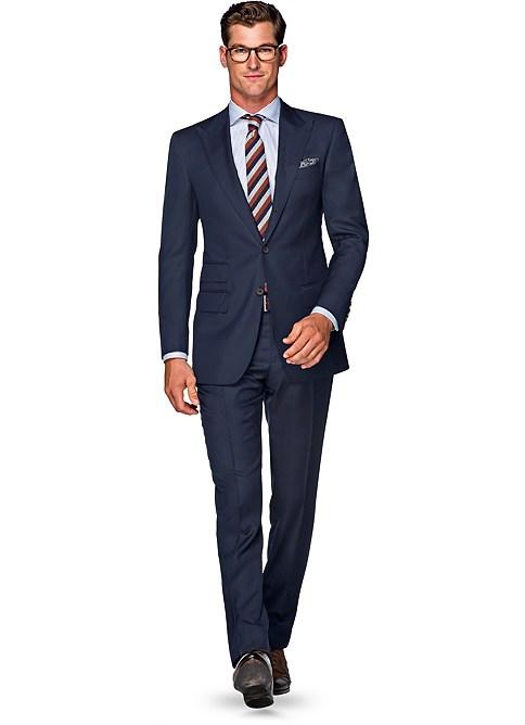 Suits Blue Plain Washington P4769 Suitsupply Online Store 1