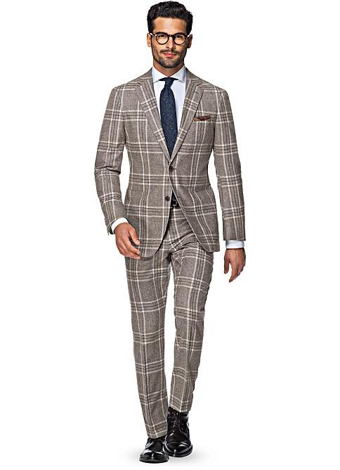Suit Brown Check Havana P4745 | Suitsupply Online Store