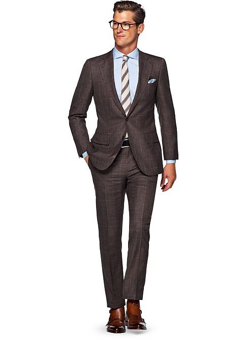 Suit Brown Check Lazio P4859 | Suitsupply Online Store