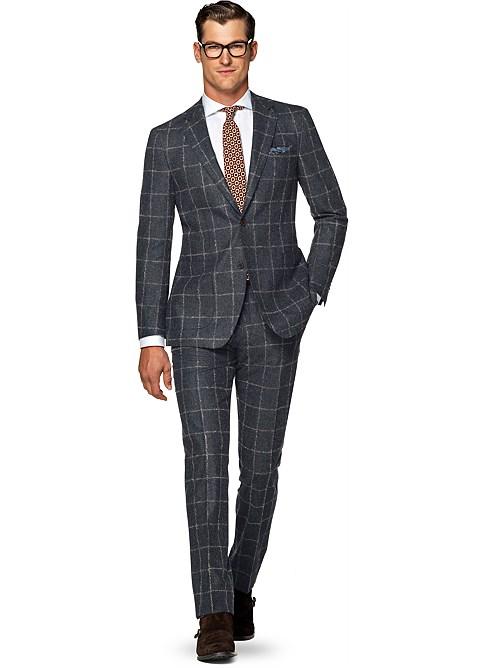 Suit Grey Check Havana P4959 | Suitsupply Online Store