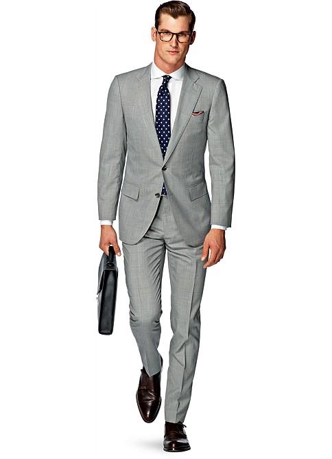 Suit Grey Check Lazio P3866i | Suitsupply Online Store