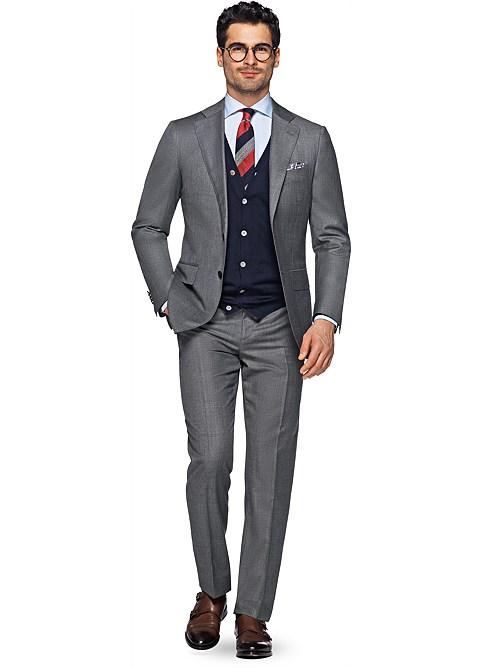 Suit Grey Plain Hartford P4304i | Suitsupply Online Store