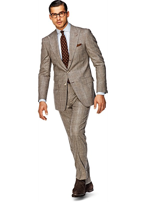 Suit_Light_Brown_Check_Washington_P3406