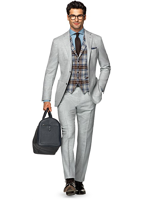 Suit Light Grey Herringbone Havana P4968 | Suitsupply Online Store