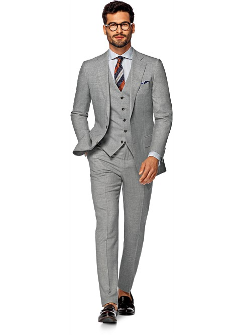 Suit Light Grey Plain Lazio P4257i | Suitsupply Online Store