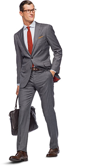 Suit_Grey_Plain_La_Spalla_P3019