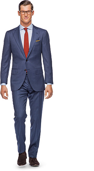 Suit_Blue_Plain_La_Spalla_P3382