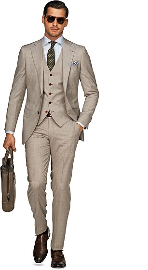 Suit_Light_Brown_Plain_Lazio_P3523