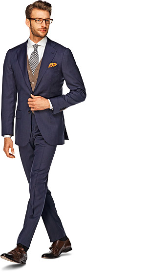 Suit_Blue_Plain_La_Spalla_P3343