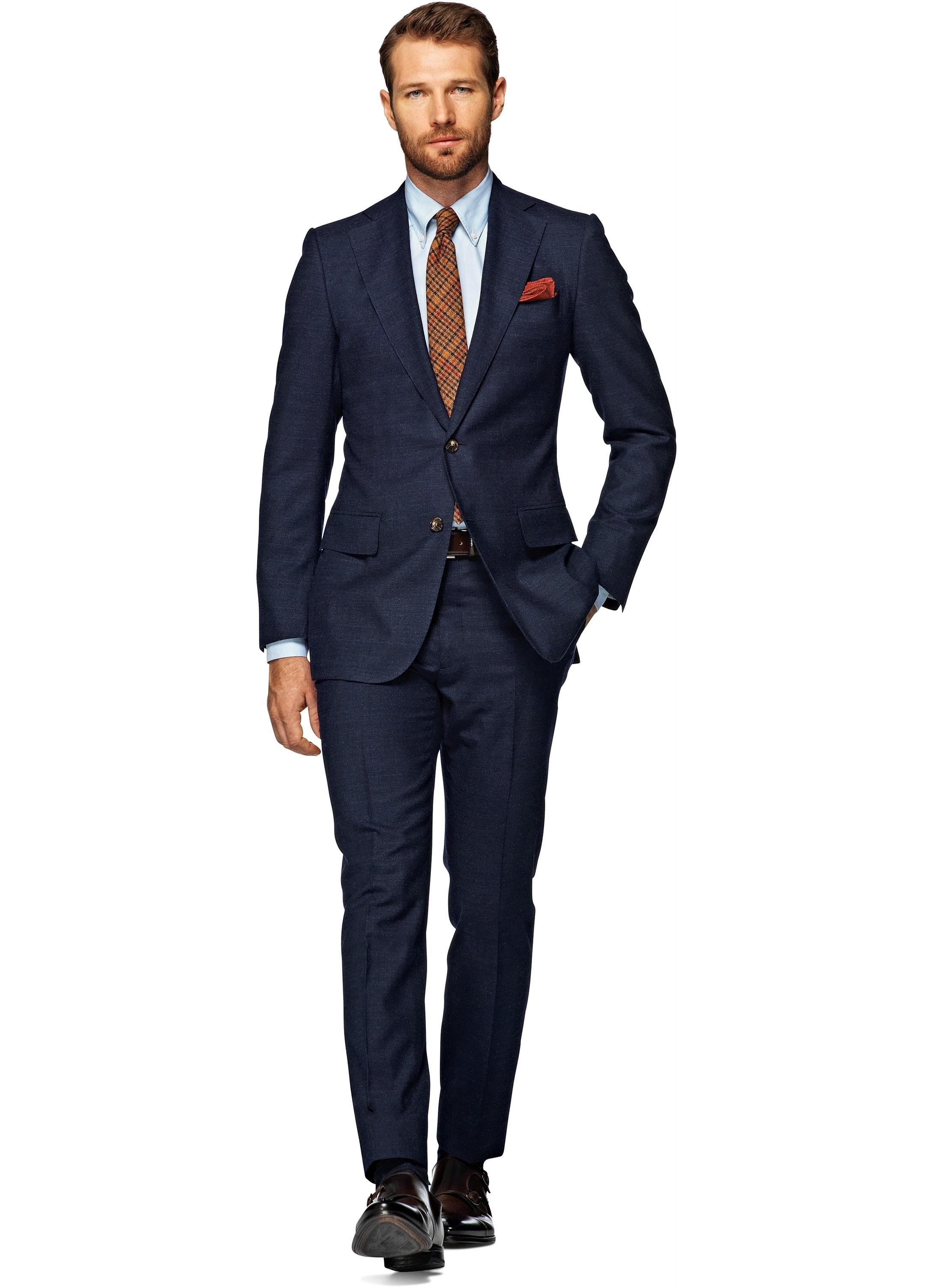 Anzug Blau Uni Lazio P3963 | Suitsupply Online Store