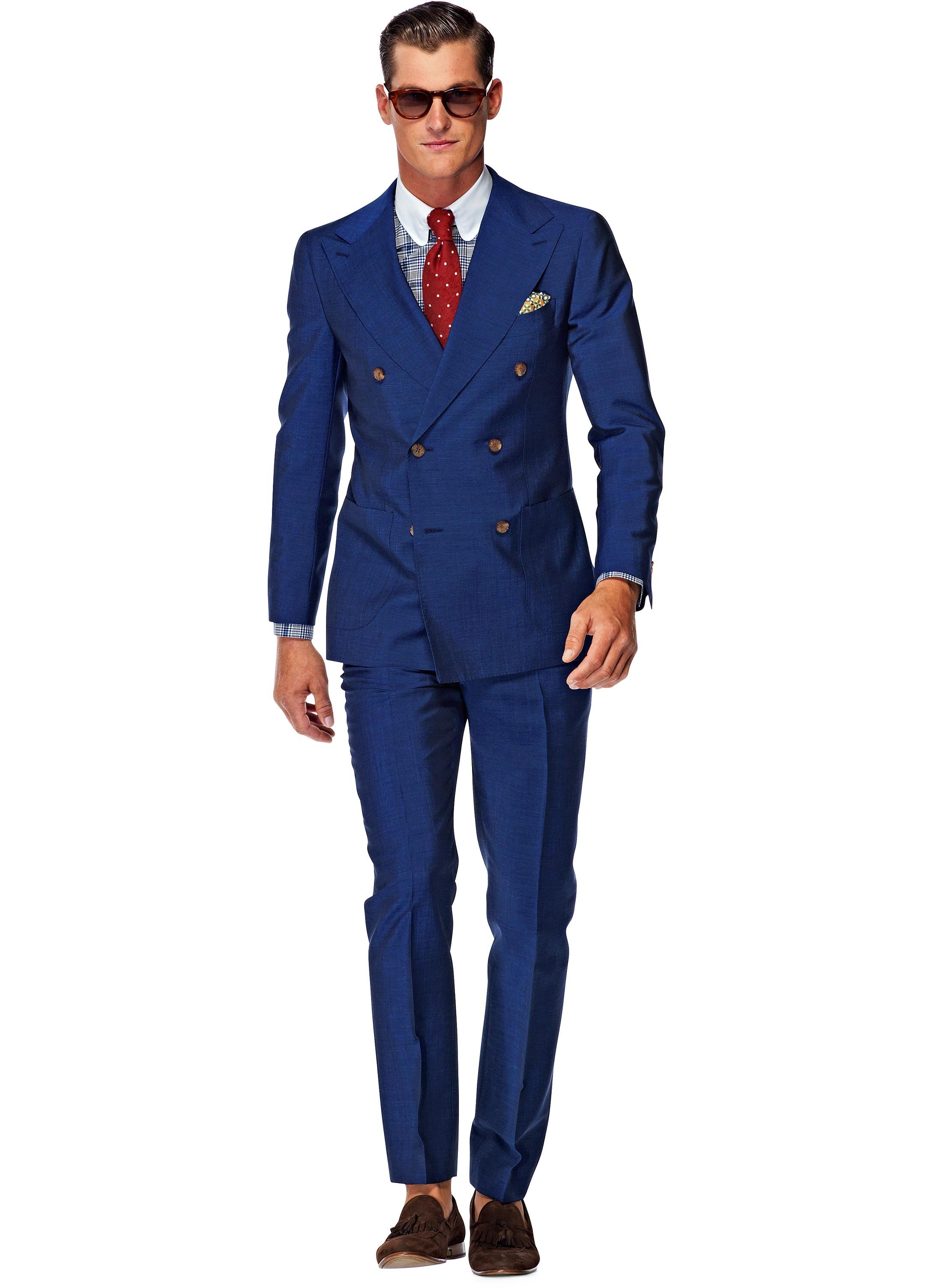 Suit Blue Plain Madison P3804