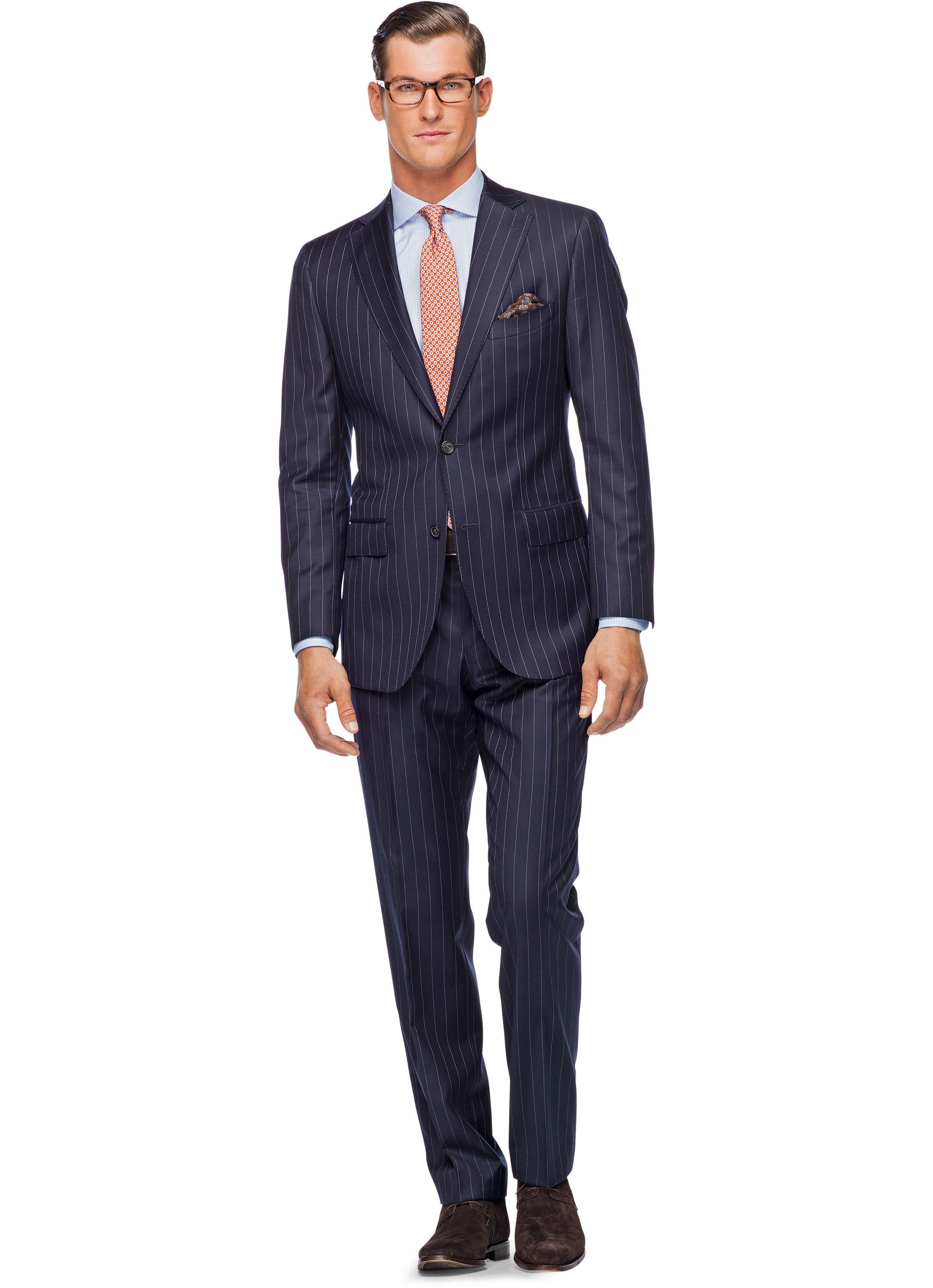 Suit Navy Stripe Napoli P2791ni
