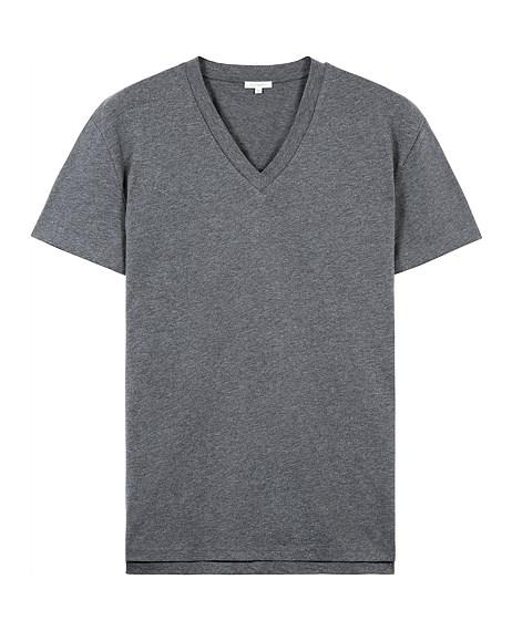 Grey V Neck T-Shirt