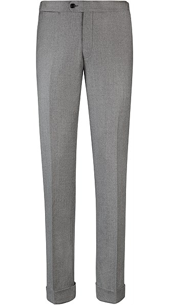 Jort Light Grey Fishtail Trousers