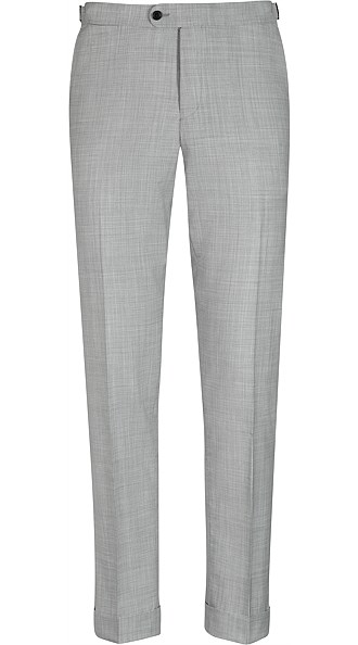 Jort Light Grey Fishtail Trousers