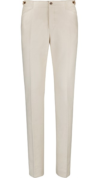 Jort Off White Trousers