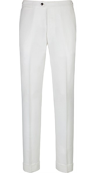 Jort Off White Fishtail Trousers
